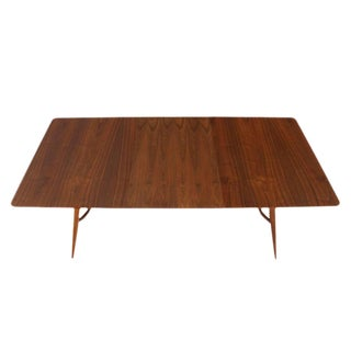 Mid-Century Modern Walnut Sculptured Base Dining Table For Sale