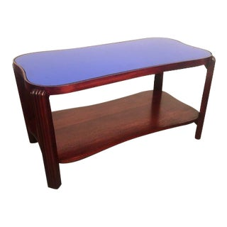 1940s Art Deco Curated Glass-Top Coffee Table For Sale