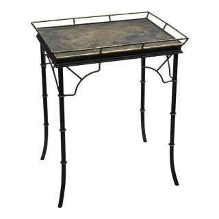 20th Century Chinese Chippendale-Style Gallery Top Metal Table For Sale