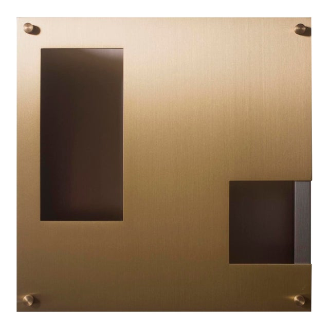 This contemporary light made of brushed brass is part of the Orphan Work brand and can be used as a wall sconce or ceiling...