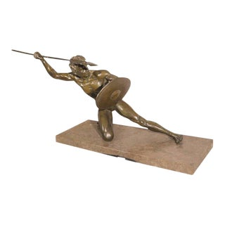 1930s Vintage O. Cipriani Signed French Art Deco Bronze Sculpture For Sale