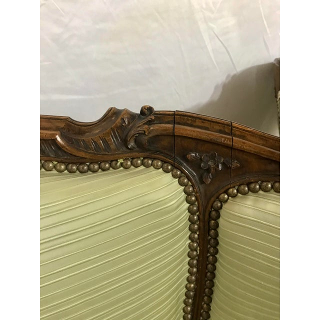 Wood Louis XV Style Walnut Bergers a Pair For Sale - Image 7 of 10