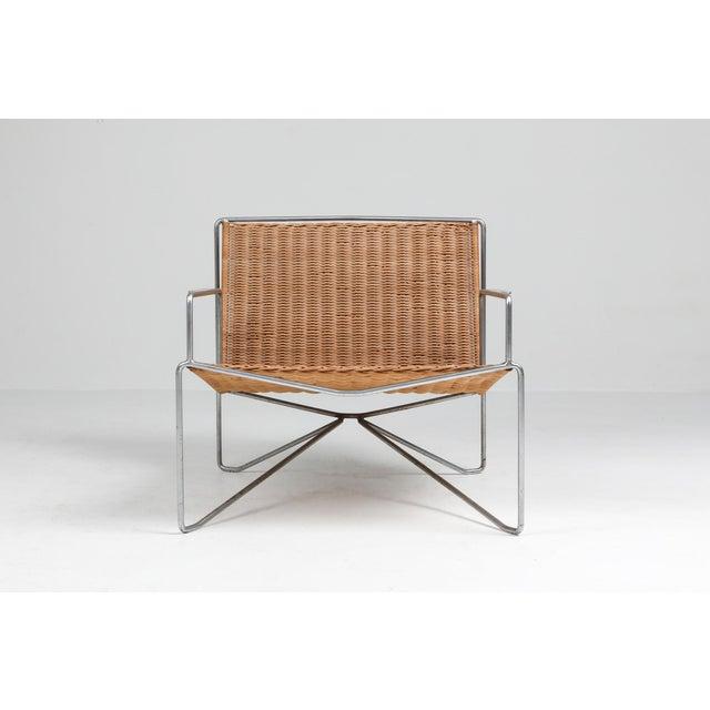 Brown Rattan & Steel Armchairs by Gelderland - 1964 For Sale - Image 8 of 13