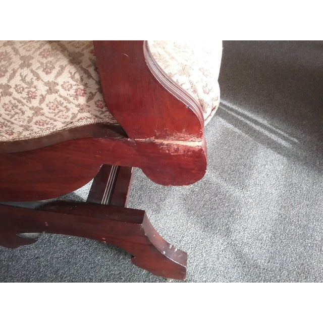 Eastlake Upholstered Victorian Wood Platform Rocking Chair For Sale - Image 12 of 13