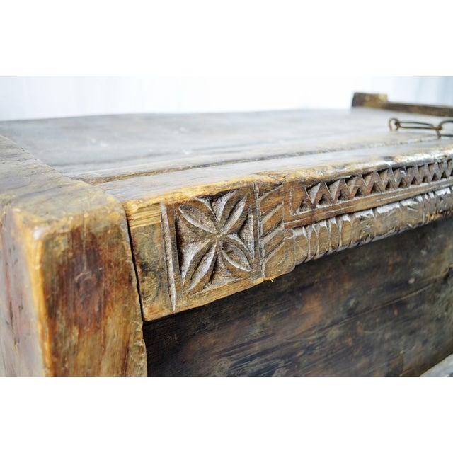 Ancient Kafiristan Wooden Dowry/Treasure Chest - Image 8 of 10