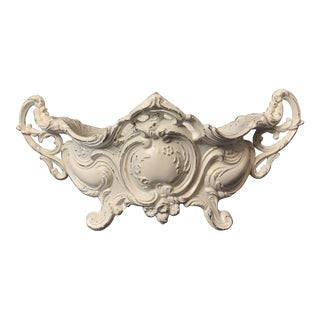 Early 20th Century Vintage Rococo White Spelter Jardiniere For Sale