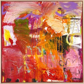 """Lesley Grainger """"I Am Flying"""" Original Abstract Painting"""