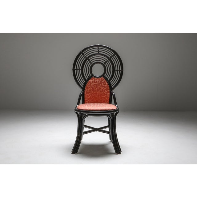 1970s Bamboo Set of Chairs From Italy With Oriental Influences - 1970's For Sale - Image 5 of 7