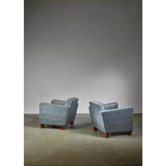Svenskt Tenn Bjorn Tragardh Pair of Easy Chairs for Svenskt Tenn, 1930s For Sale - Image 4 of 5