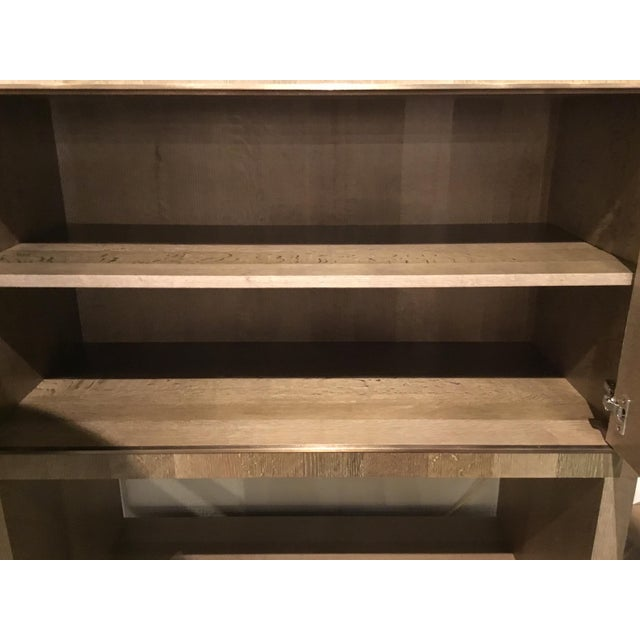 Metal Modern Henredon East End Gray and Taupe Etagere For Sale - Image 7 of 9