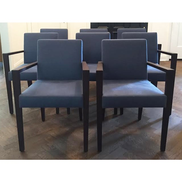 Ligne Roset Blue Dining Chairs - Set of 8 - Image 7 of 7