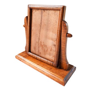1920's Tiger Maple Picture Frame For Sale
