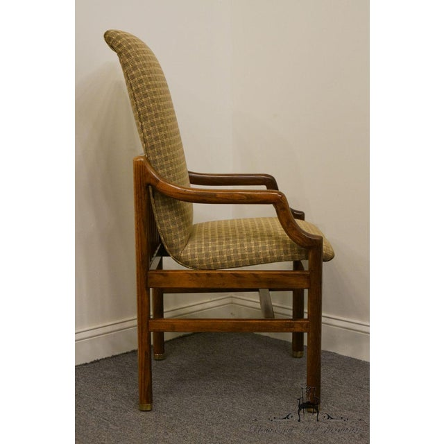 Brown Henredon Mid-Century Modern Solid Walnut Dining Arm Chair For Sale - Image 8 of 13