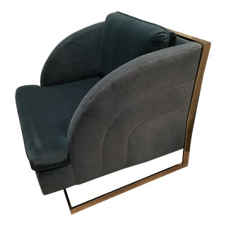 Mid-Century Modern Upholstered Lounge Chair For Sale