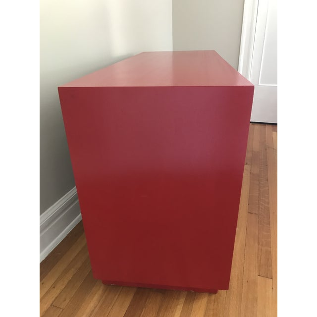 1950s Mid Century Modern t.h Robsjohn Gibbings Chinese Red Chest This classic piece would be fabulous in any room. This...