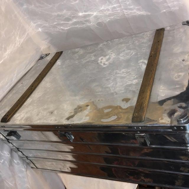 Vintage Polished Steel Zarges Industrial Trunk - Image 5 of 10