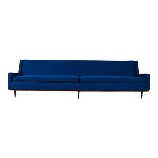 Milo Baughman for Thayer Coggin Mid Century Blue Sofa For Sale