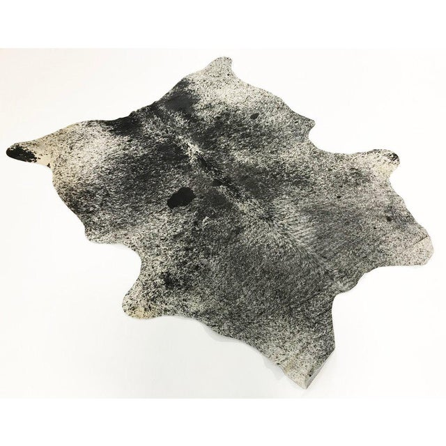 Black & White Speckled Cowhide Rug - Image 2 of 3