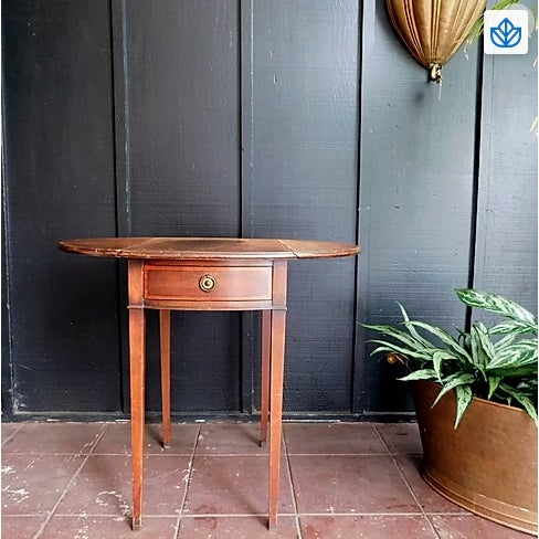 Antique Traditional Soulful Side Table For Sale - Image 4 of 4