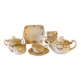 Japanese Nippon Porcelain Tea Set- 12 Pieces