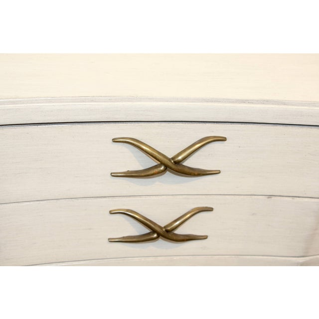 A nice design by Paul Frankl for Brown Saltman. The finish is not original but has been white washed. The piece is very...