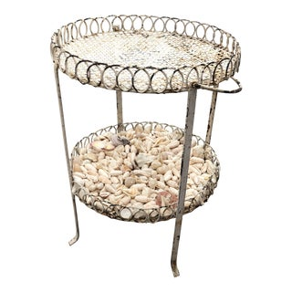 Wrought Iron Seashells Table For Sale