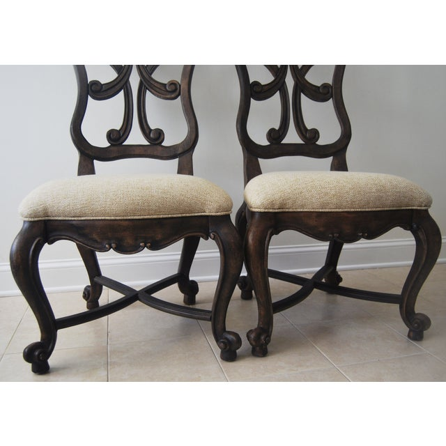 A Pair of French Style Wood Back Side Chairs - Image 6 of 11