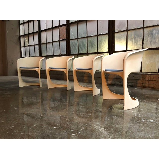 Cado by Steen Ostergaard Mid Century Danish Modern Molded Plastic Stacking Dining Chairs - Set of 4 - Image 3 of 7