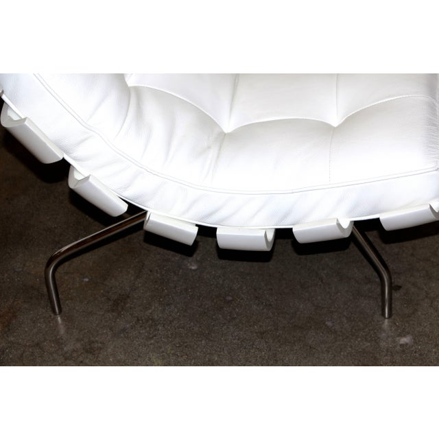 """Wood Pair of 1990's Scala Luxury """"Rib"""" Lounge Chairs With New Leather Cushions For Sale - Image 7 of 11"""