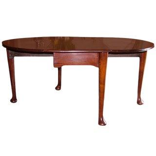 American Solid Mahogany Gate Leg Table, Circa 1820 For Sale