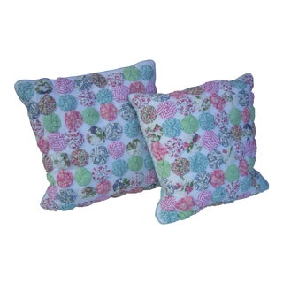 Ethan Allen County Pillows - A Pair For Sale