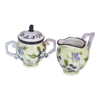 Tracy Porter Ceramic Sugar and Creamer Set For Sale