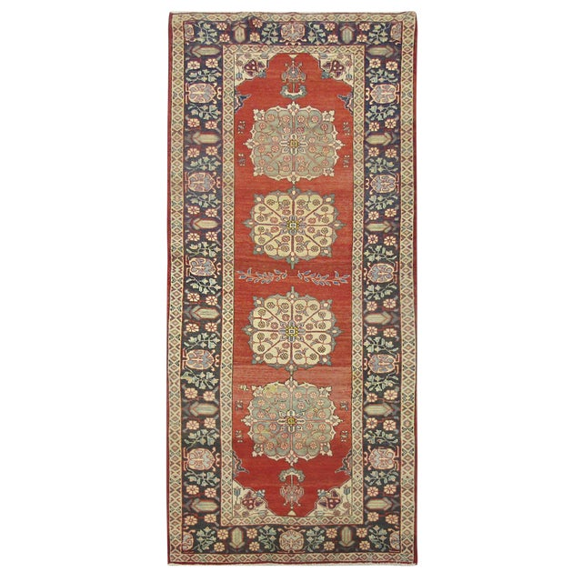 Vintage Persian Khalkhal Rug - 3'8''x10'3'' For Sale