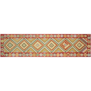 "Nalbandian - Contemporary Afghan Kilim Runner - 2'5"" X 11'4"" For Sale"