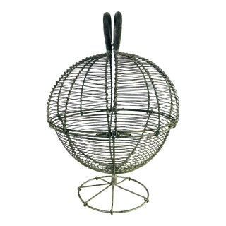 French Wire Egg Basket For Sale