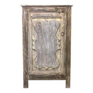 Boho Chic Tall Bedside Cabinet For Sale