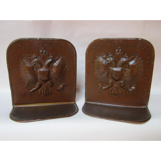 Arts & Crafts Copper Bookends - A Pair For Sale - Image 9 of 9
