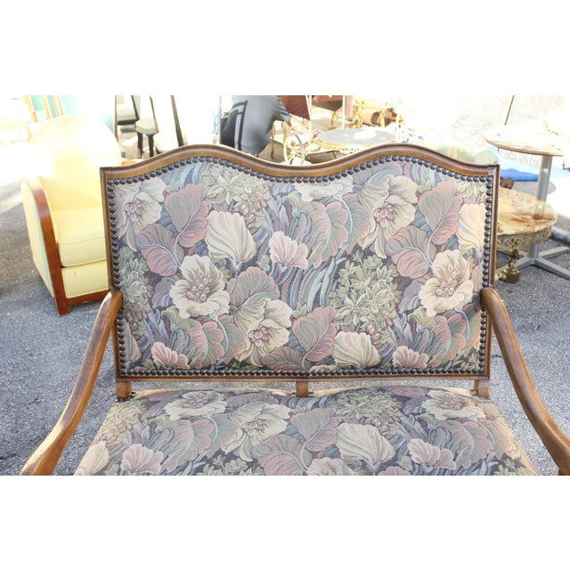 Brown 1900s Louis XIII Style Os De Mouton Walnut Settee and Armchairs - Set of 3 For Sale - Image 8 of 11