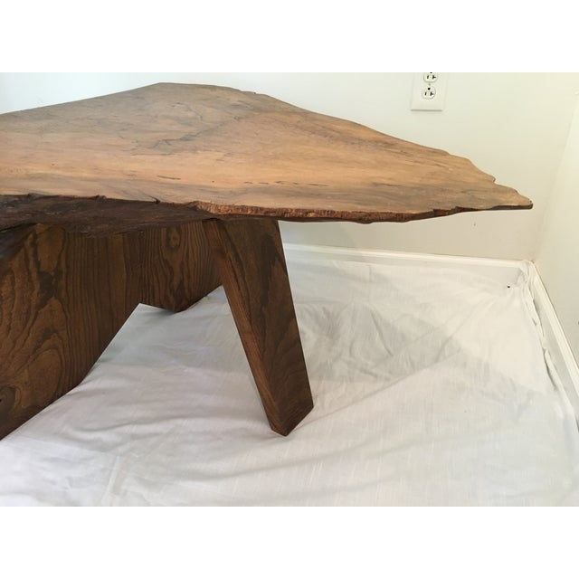 Wood Rustic Live Edge Tree Cocktail Table For Sale - Image 7 of 13