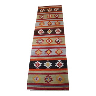 Turkish Flatweave Runner Rug - 3′ × 9′3″