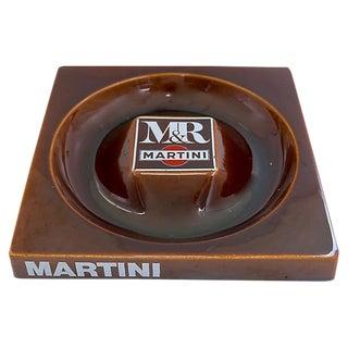 Vintage French Bistro Martini & Rossi Ashtray For Sale