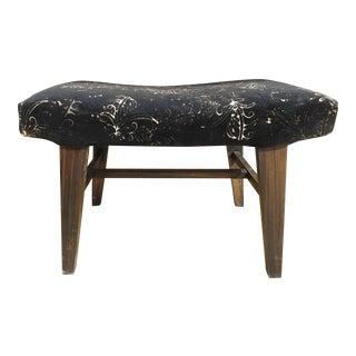 Mid-Century Modern Custom Velvet Upholstery Bench For Sale