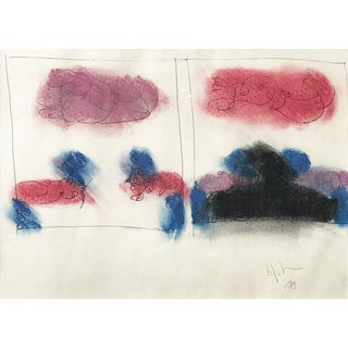 """""""Untitled"""" Original Mixed Media on Paper by Norman Bluhm For Sale"""