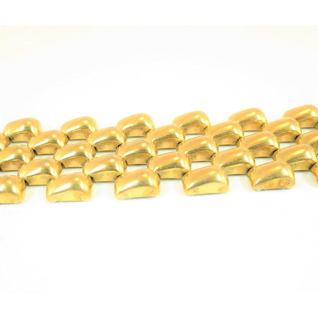 Mid-Century Kreisler Geometric Open-Link Vermeil Bracelet 1940s For Sale In Los Angeles - Image 6 of 13