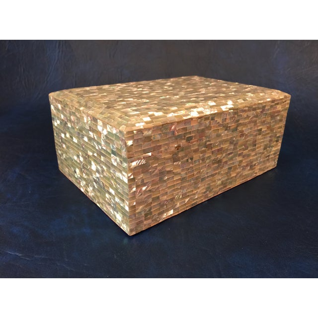 Tessellated Sea Shell Dresser Boxes - Set of 3 - Image 7 of 9