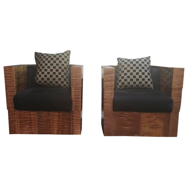 Pace Collection Swivel Tub Chairs - A Pair - Image 1 of 7