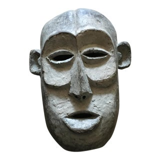 Vintage Tribal Hand Carved African Mask For Sale
