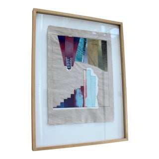 1970s Vintage Mid-Century Modern Rauschenberg Signed Abstract Numbered Print For Sale