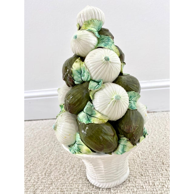 Hollywood Regency Vintage Italian Onions and Artichokes Topiary For Sale - Image 3 of 8