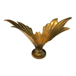 1980s Decorative Brass Cachepot For Sale